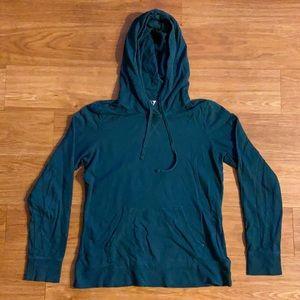 American Giant Womens Green Hoodie Sweatshirt Size Medium Made In USA